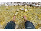 StenarLedena Triglavska bistrica ohladi pregrete noge :)