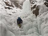 Grape, slapovi, zimski alpinistični vzponiPrvi slap, začetek