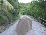 Prelaz Ljubelj (koča)Urejanje ceste pred nedeljsko dirko