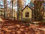 Prelaz Ljubelj (koča)Pri kapelici polni listja