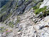 Storžič del gruščaste poti