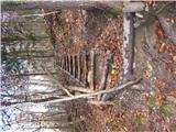 Stopnice nas privedejo do asfaltirane ceste