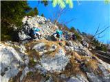 Javorca(Golte)tudi lažjega plezanja je bilo kar nekaj