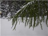 Prelaz Ljubelj (koča)Pomladno zimski utrinek