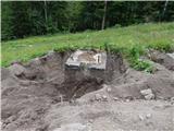 Ljubelj - Koča VrtačaPričeli so z odstranjevanjem betonskih podstavkov