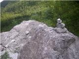 Rjavčki vrh ali Planinšca ( 1898m )izgubljeni možic, ki čaka na limonado, hehee