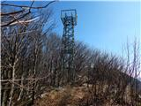 Križna gora (1162m) in Sveti Duh (1221m)Razgledni stolp na Križni gori.