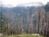 Strma peč po Via Norinaše vidne sledi požara