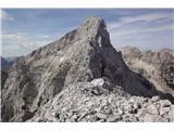 Velegreben Macesnovec-Dimniki-Žaga-Luknja peč-RjavinaLuknja peč …in SV-greben Rjavine, stolpi so dobo zliti z grebenom