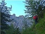 Krnička gora iz Matkove KrniceRdeči stolp in Matkovo okno