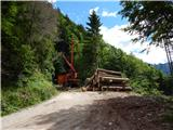 Prelaz Ljubelj (koča)Gozdarska dela
