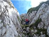 Krnička gora iz Matkove Krnicegrapa direktno od votline nazaj na greben