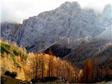 Kredaricamegla je začela prekrivati vrhove gora