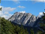 Prelaz Ljubelj (koča)Veliki vrh v grebenu Košute