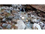 Kamniški vrhpot večkrat preči potok