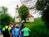 Ciganov vrh (Korinjski hrib)del poti mimo cerkve v vasi Kal