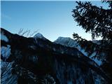 Prelaz Ljubelj (koča)Košutica in Veliki vrh