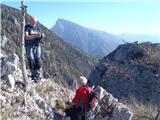 Ojstri vrh 1371mutrinek med vzponom na Ojstri vrh