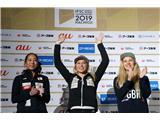 Janja Garnbret v drugo svetovna prvakinja...Janja Garnbret v drugo svetovna prvakinja v balvanskem plezanju (foto Manca Ogrin).