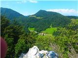 Kamnik ( 861m )na vrhu je odličen razgled