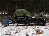 Prelaz Ljubelj (koča)Čaka na več snega