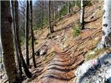 Kamniško sedlodel poti