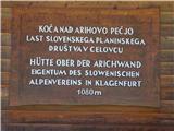 Koča nad Arihovo pečjo /  Rossalmhütte