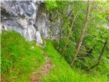 Kamnik ( 861m )pogled nazaj na prehojeno