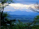 Debenji vrhpogled proti Kamniškim Alpam