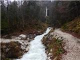 The Lower Peričnik waterfall