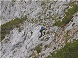 Krnička gora iz Matkove Krnicepod grebenom med Krničko goro in Mrzlo goro