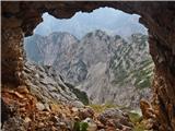 Krnička gora iz Matkove Krnicepogled skozi okno v grebenu med Krničko goro in Mrzlo goro
