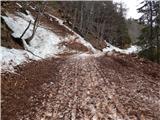 Prelaz Ljubelj (koča)Ponekod je sneg takšen