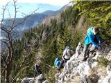 Javorca(Golte) plezalni utrinek