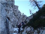 Ojstri vrh 1371mkratko a prijetno plezanje