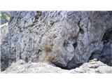 Velegreben Macesnovec-Dimniki-Žaga-Luknja peč-RjavinaZadnji detajl je izhod iz škrbine na greben