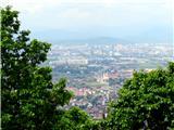 Debenji vrhpogled z razglednega stolpa proti Ljubljani