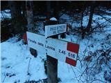 Belopeška jezera / Lago di Fusine - crni_vrh___colrotondo