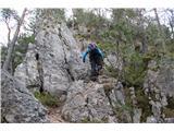 Greben Brezniških pečina grebenu