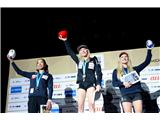 Janja Garnbret, trikratna svetovna prvakinjaJanja Garnbret, trikratna svetovna prvakinja, prva v zgodovini (foto Manca Ogrin).