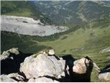 Mont Blanc / Monte Bianco razgled s postaje zobate železnice