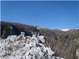 Ojstri vrh 1371mpokuk z Ojstrega vrha proti Velikem Vrhu, Veliki Zelenici in Dleskovcu