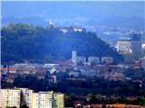 Debenji vrhLjubljanski grad(približan)