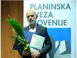 Andreju Štremflju zlati cepin za življenjsko delo v...Prejemnik priznanja PZS za življenjsko delo v alpinizmu leta 2017 (foto Irena Mušič Habjan).