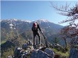 Greben Brezniških pečiLepi so razgledi z grebena... proti Stolu...