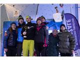 Švicarska prevlada v DomžalahSlovenija zmagovalka pokala narodov v slovensko-hrvaško-srbskem pokalu 2018 v lednem plezanju (foto Urban Urbanc).