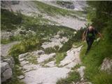 Rjavčki vrh ali Planinšca ( 1898m )pozna in je šel po travah, js pa drsala po platah:)