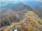 Kamnik ( 861m )pogled nazaj po grebenu