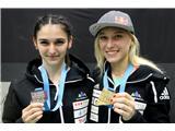 Garnbretova serijska svetovna prvakinjaMia Krampl svetovna podprvakinja, Janja Garnbret prvakinja v težavnosti (foto Manca Ogrin).