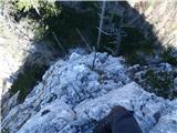 Ojstri vrh 1371mtudi direktno se da povzpeti na sosednji vrh